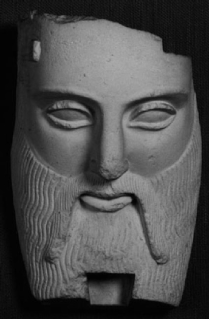 Cast of a mask of a bearded male, possibly Acheloos, from Attica