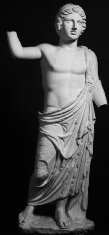 Cast of a statue of a youth from Rhamnous