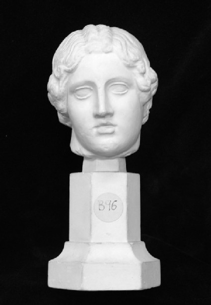 Cast of the head from a statuette of a child