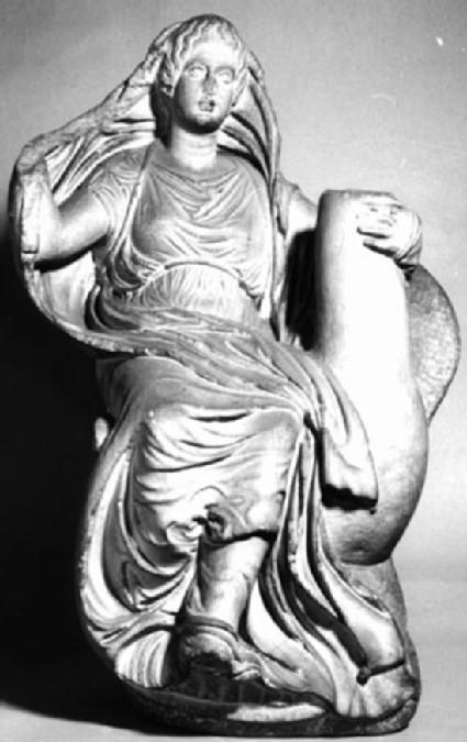 Cast of a small statue of Aphrodite riding a goose
