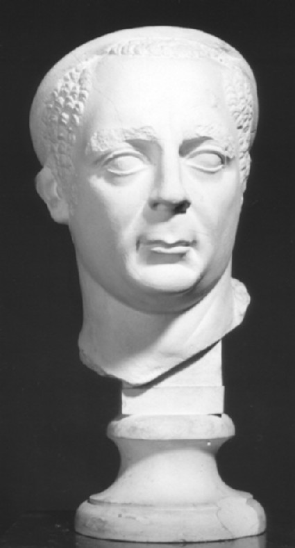 Cast of male portrait head
