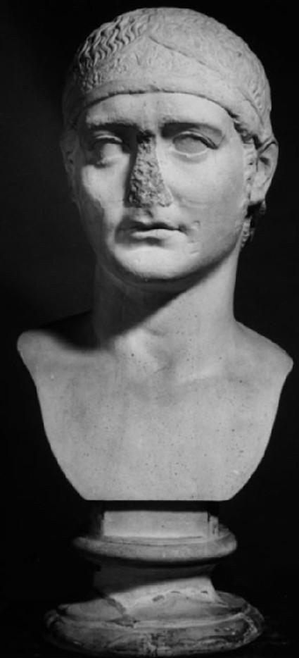 Cast of a portrait of a Julio-Claudian prince