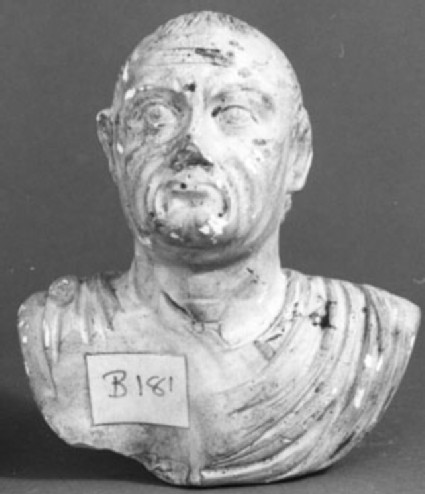 Cast of a portrait of an elderly Roman, from Rome