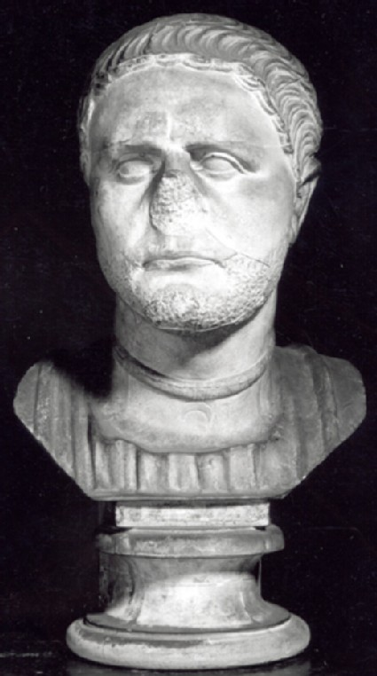Cast of male head, possibly a Roman officer