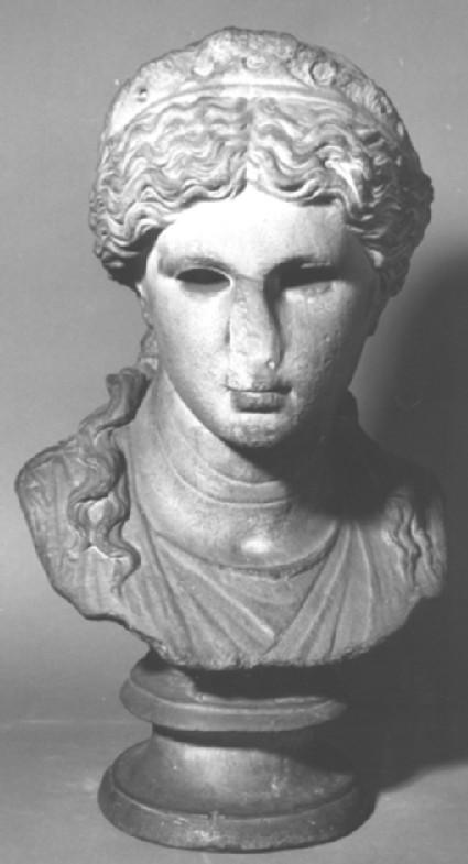 Cast of a bust of a goddess