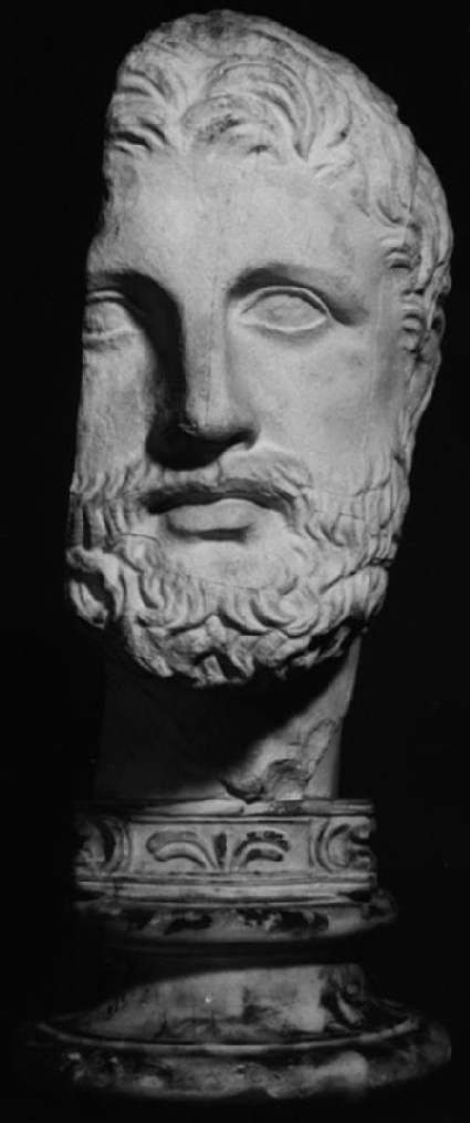 Cast of a male portrait from the Mausoleion, Halikarnassos