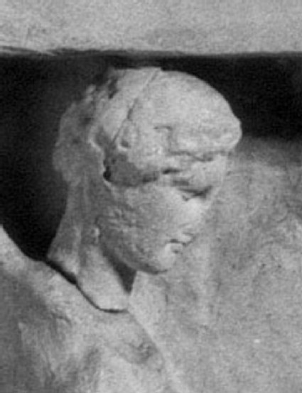 Cast of the head of Nike from a votive relief from Rhamnous