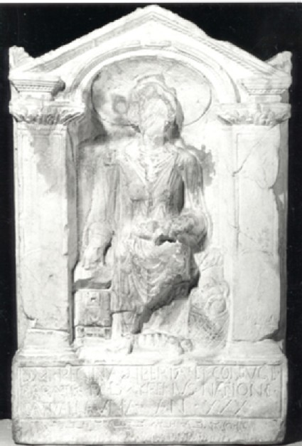 Cast of a tombstone for the freedwoman Regina