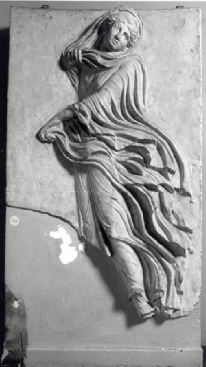 Cast of a relief with a dancing nymph, from Athens
