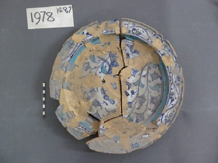 Fragmentary dish with vegetal sprays