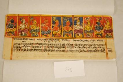 Ten deities in a row