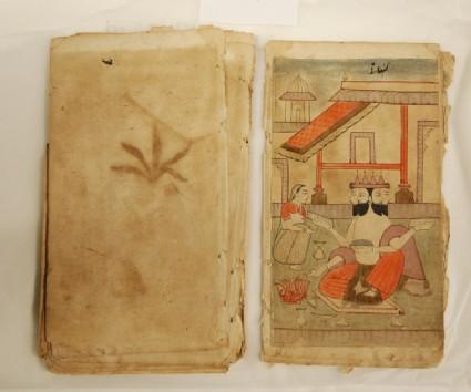The god Brahma, illustrating the musical mode Khambavati Ragini