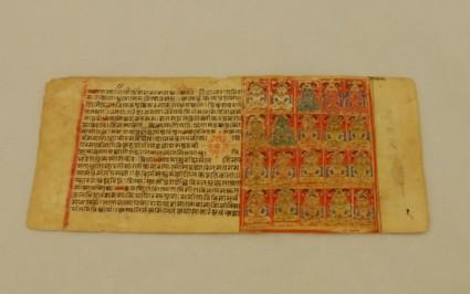 Manuscript page depicting twenty tirthankaras or Jinas