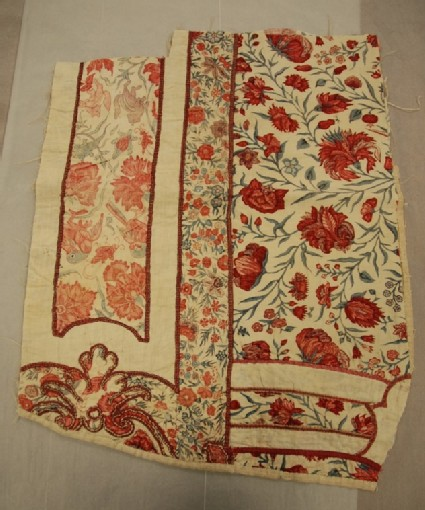 Chintz fragment from three distinct chintz fabrics