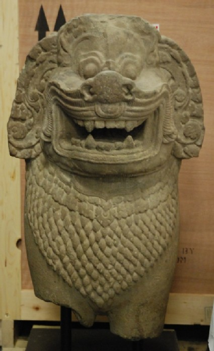 Figure of a guardian lion