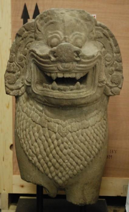 Figure of a guardian lion