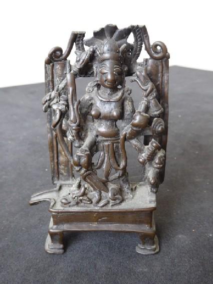 Folk image of Durga Mahishasuramardini