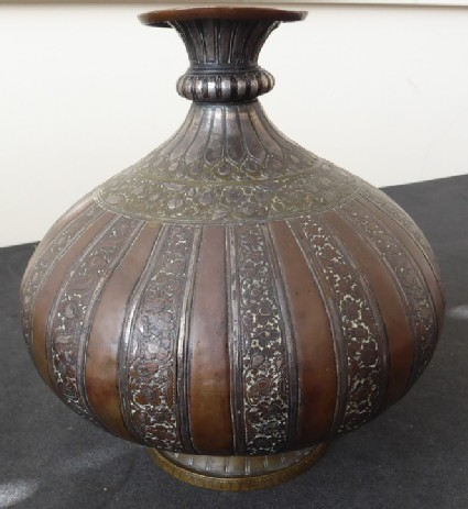 Lota, or water vessel, with plain bands alternating with vegetal scrollwork