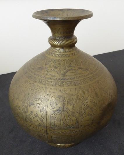 Lota or chambu, or water vessel, with horizontal bands of deities