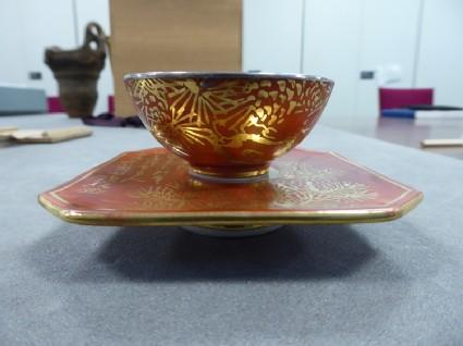 Sake cup and saucer
