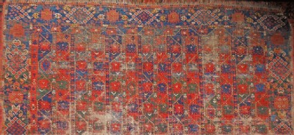 Fragment of a Turkmen Ersari carpet