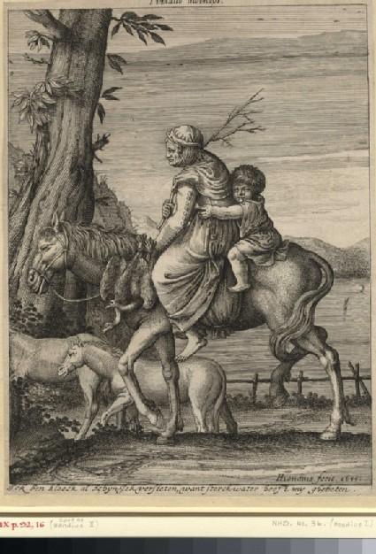 Market woman on horseback