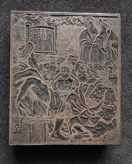 Woodblock for The Elders (Book of Ruth)
