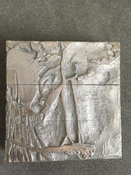 One of five woodblocks for 'C'est d'Aucassin et Nicolette'