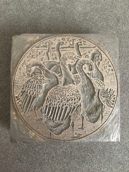 Woodblock for Geese (Roundel)