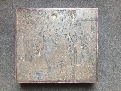 Woodblock for Daphnis and Chloë: Nuptials or Torchlight Procession