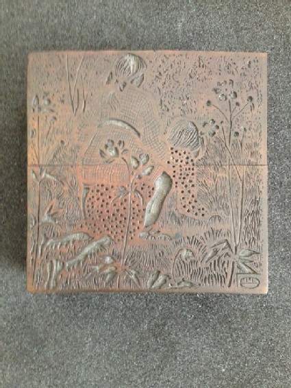 Woodblock for On the Lawn