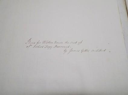 Gibbs portfolio of drawings for Wiston House ('Volume VI')