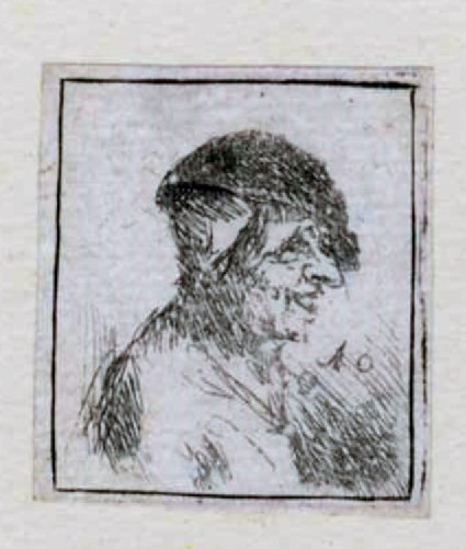 Bust of a laughing peasant