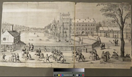 View of the Binnenhof and the Hofvijver