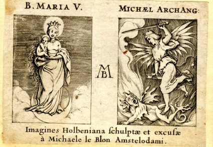 The Virgin on the crescent and Archangel Michael