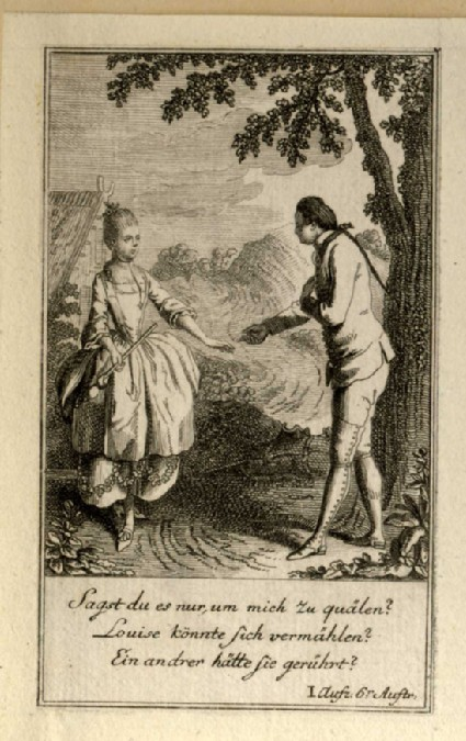 A young man pursuing a lady