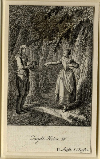 The chamberlain meeting a lady in the woods