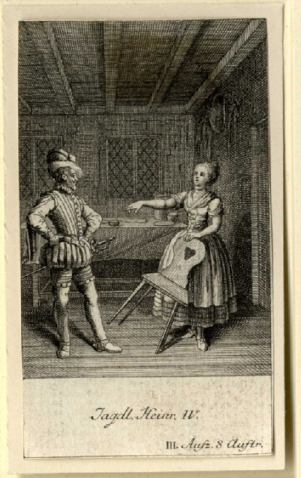 Hotspur and his wife in a room