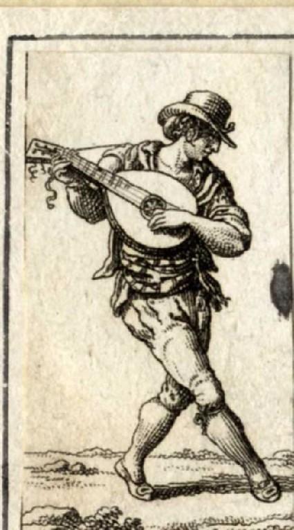 Morris dancer with a banjo