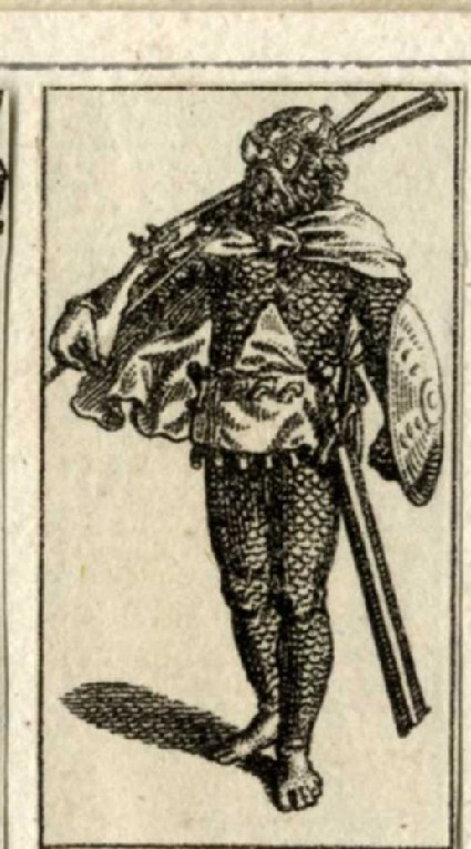 A soldier in armour