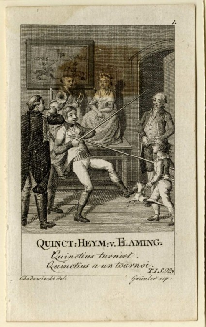 A man playing joust with his child
