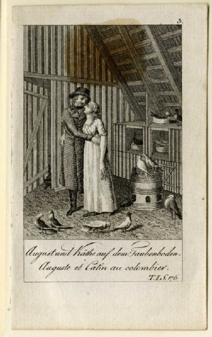 Auguste and Catin in the dovecote