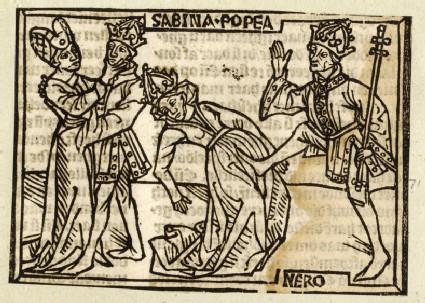 Recto: Poppaea Sabina and Nero<br />Verso: letterpress