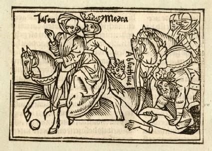 Recto: Jason and Medea<br />Verso: letterpress