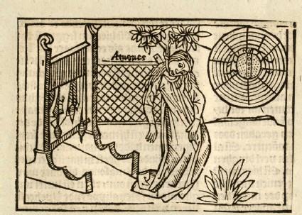 Recto: Death of Arachne<br />Verso: letterpress