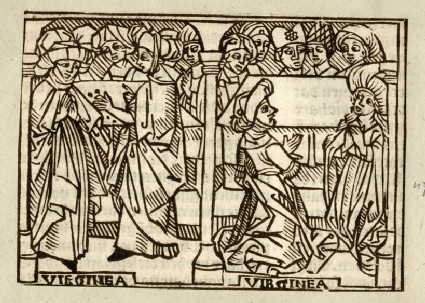 Recto: Verginia wife of Lucius Volumnius Flamma<br />Verso: letterpress