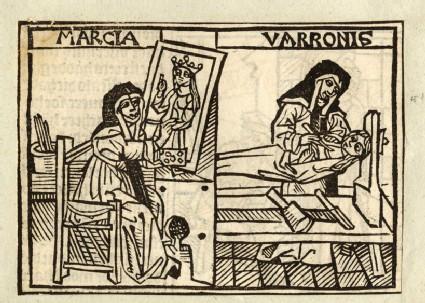 Recto: Marcia Varronis or Iaia of Cyzicus<br />Verso: The Roman Maiden, letterpress