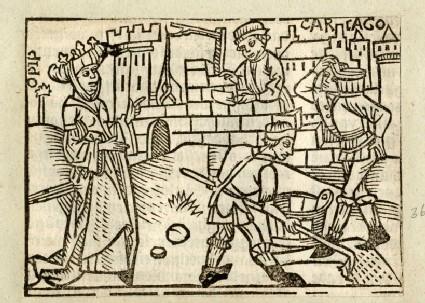 Recto: Dido, or Elissa, queen of Carthage<br />Verso: letterpress