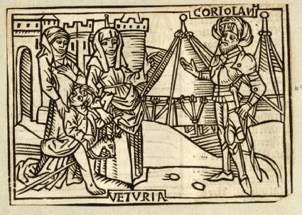 Recto: Veturia and Coriolanus<br />Verso: letterpress