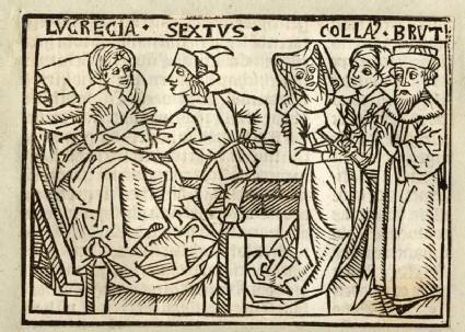 Recto: The Violation of Lucretia<br />Verso: letterpress